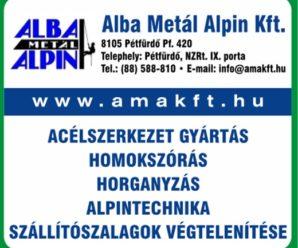 Fehérvárinfó-Acélszerkezetek gyártása-Alba Metál Alpin Kft.