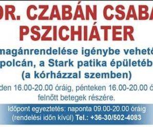 KESZTHELYINFO-Dr. Czabán Csaba pszichiáter