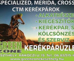 KESZTHELYINFO-Green Zone kerékpárüzlet