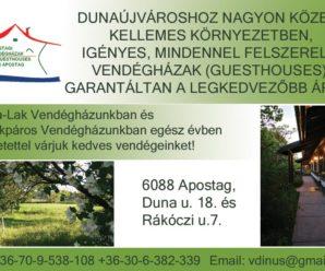 DUNAUJVÁROSINFO-Apostagi Vendégház