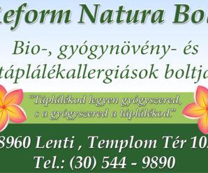 LENTI INFO – REFORM NATURA BOLT