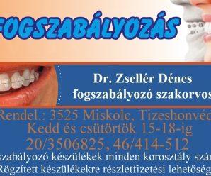 MISKOLCINFO – DR. ZSELLÉR DÉNES FOGSZABÁLYZÓ SZAKORVOS