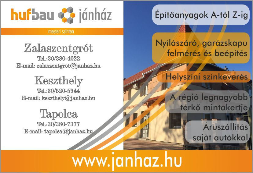 KESZTHELYINFO-.Jánház Kft minőségi építőanyagok