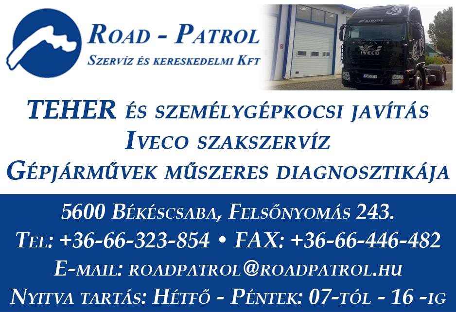 BÉKÉSCSABAINFO – Road-Patrol – Szervíz és Kereskedelmi Kft.