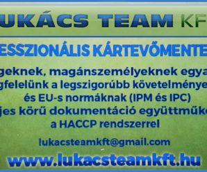 BÉKÉSCSABAINFO – Lukács Team – Professzionális kártevőmentesítés