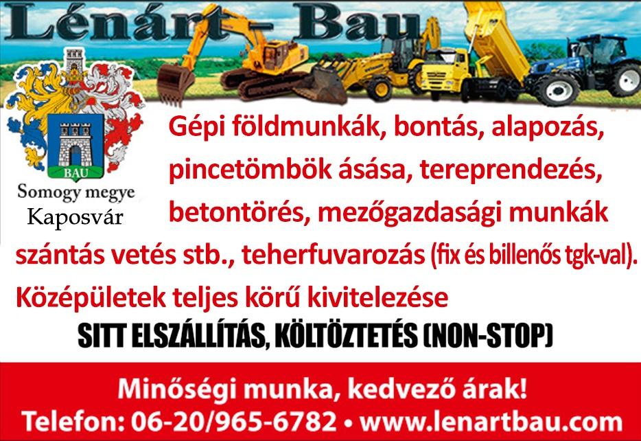 KAPOSVÁRINFO – LÉNÁRT-BAU – GÉPI FÜLDMUNKÁK
