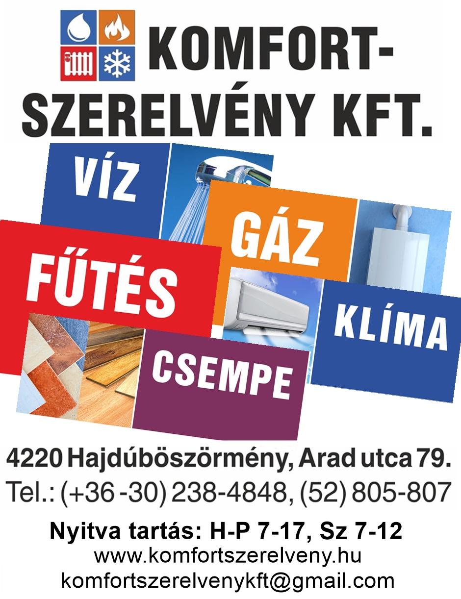 HAJDÚBÖSZÖRMÉNYINFÓ-KOMFORT SZERELVÉNY KFT.