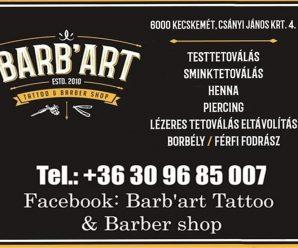 KECSKEMÉTINFÓ-BARB'ART TATTO & BARBER SHOP